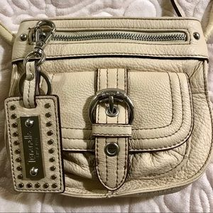 Tignanello Ivory Leather Crossbody